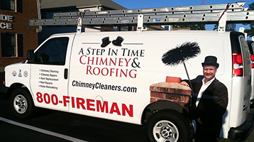 """Chimney Services"" A Step in Time Van"