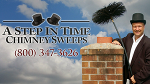 "A Step in time chimney sweeps ""call us"""